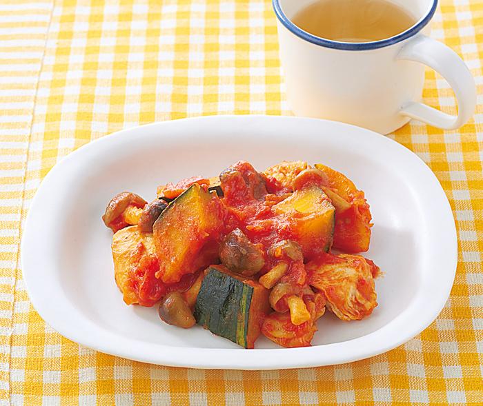 鶏肉 の トマト 煮 献立