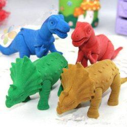 おもしろ消しゴム 巨大サイズ 組み立てられる 恐竜 ビッグ消しゴム 4体セット 大人もはまる