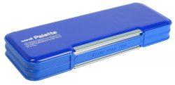 三菱鉛筆 筆箱 ユニパレット 両開き 青 P1000BT300