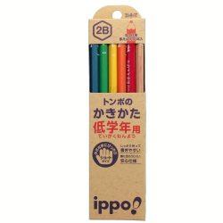 トンボ鉛筆 鉛筆 ippo! 低学年用かきかた 2B ナチュラル MP-SKNN03-2B