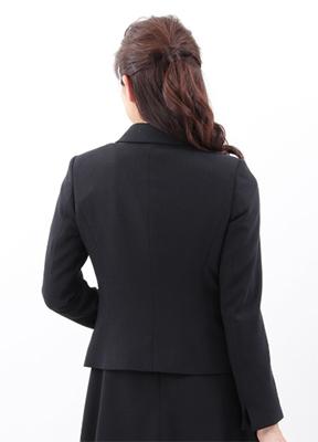 ザ・スーツカンパニー&ユニバーサルランゲージ オンラインショップの「フォーマルレディーススーツ」で販売されている『<FORMAL>【destyle】ウールストレッチ ラウンドカラージャケット』