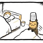 「こぐまのケーキ屋さん」とびおきる