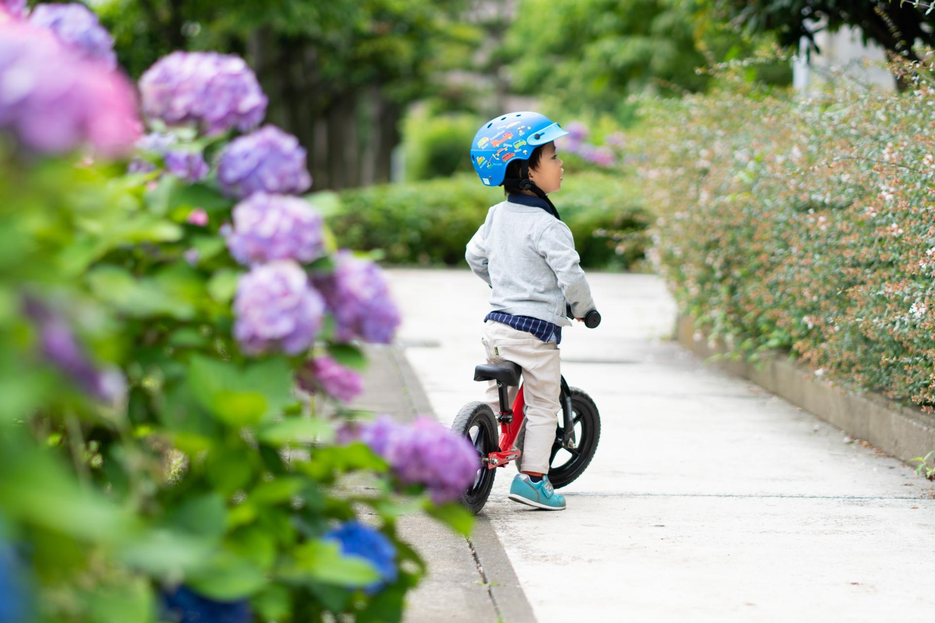 子供が乗るおもちゃイメージ、自転車