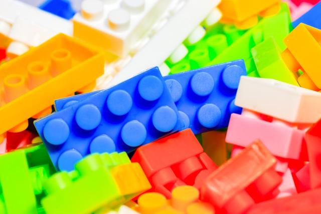 色とりどりのレゴブロック