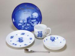 ファミリア&大倉陶園 メモリアルプレート付き子供食器セット(5ピース)