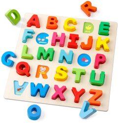 木製アルファベットパズル