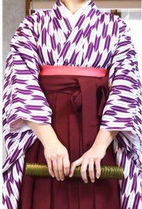 ジュニア二尺袖着物刺繍袴セット