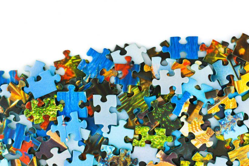 パズル、収納