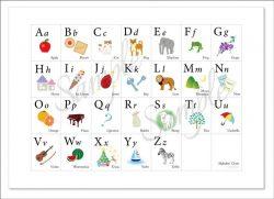 親子に笑顔が生まれる「アルファベット表」ABC Chart A2
