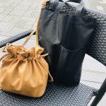 無印良品990円マイバッグと激軽レザー巾着が活躍!【絶賛子育て中!ママライターのバッグの中身、全部見せ!Vol.8】