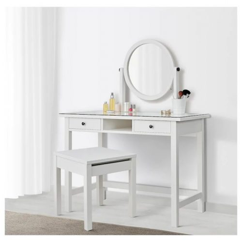 HEMNES ヘムネス ドレッシングテーブル ミラー付き, ホワイト, 110x45 cm