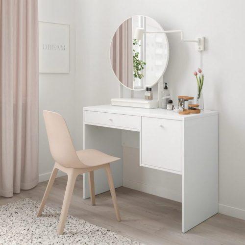 SYVDE スィブデ ドレッシングテーブル, ホワイト, 100x48 cm