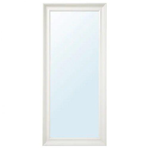 HEMNES ヘムネス ミラー, ホワイト, 74x165 cm
