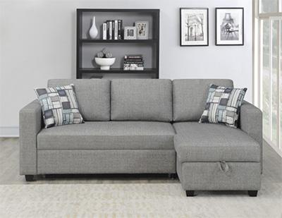 「布製ソファーベッド BAINBRIDGE」サイズ:2240 x 1470 x 880mm(¥94,800)