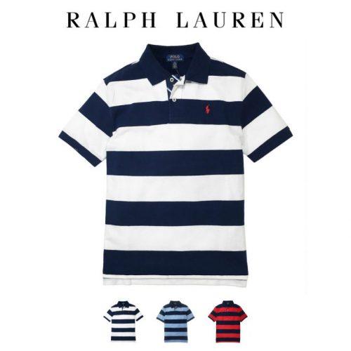 ポロ ラルフローレン ポロシャツ ボーダー Polo Ralph Lauren ボーイズ BOYS ネイビー ブルー レッド