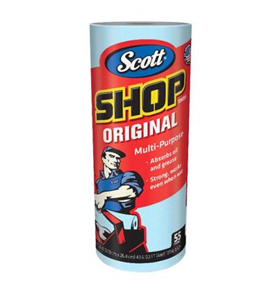 「スコットショップタオルブルー55枚x10ロール」(¥2,800/オンライン価格)