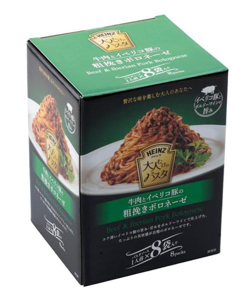 「ハインツ 大人むけのパスタ 牛肉とイベリコ豚の粗挽きボロネーゼ 8袋」