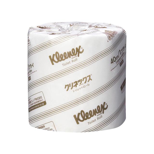 「クリネックス 40m ダブル 個包装 1箱(80ロール)」 ¥6,960(税込/オンライン価格 1ロール当り約¥87)